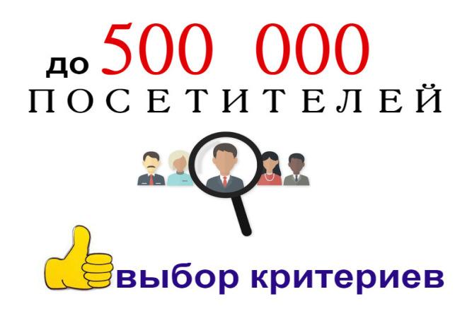 100000 качественных посещений по критериям 1 - kwork.ru
