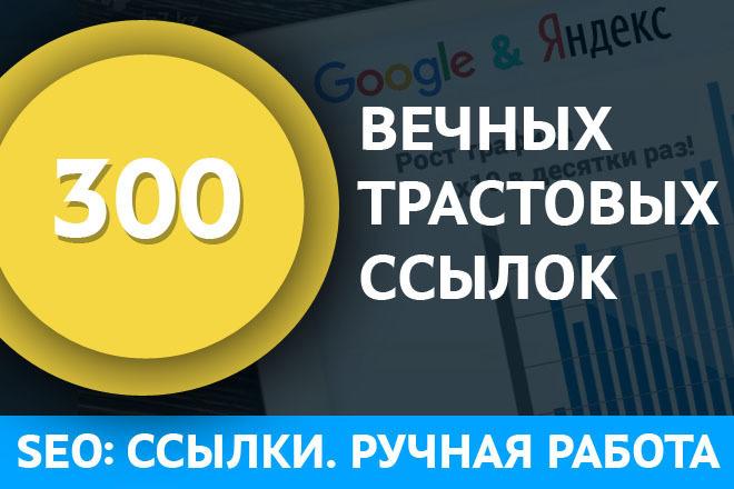Размещение 300 вечных трастовых ссылок 1 - kwork.ru