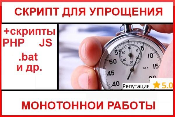 Напишу скрипт для упрощения монотонной работы 1 - kwork.ru