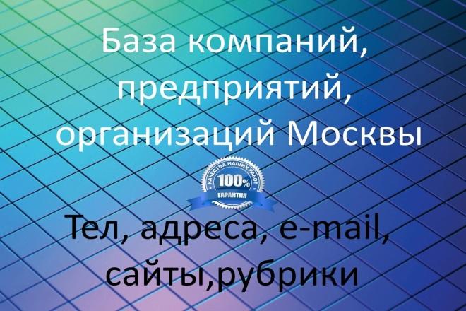 База компаний, предприятий, организаций Москвы 1 - kwork.ru