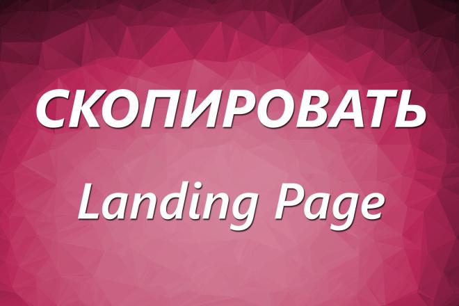 Скопировать Landing page, одностраничный сайт, посадочную страницу 101 - kwork.ru