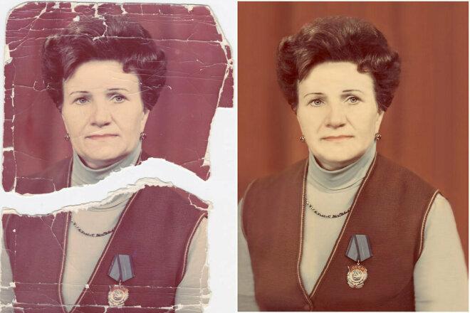 Восстановление старых фотографий 4 - kwork.ru