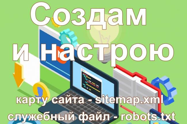 Создам карту сайта и robots.txt 1 - kwork.ru