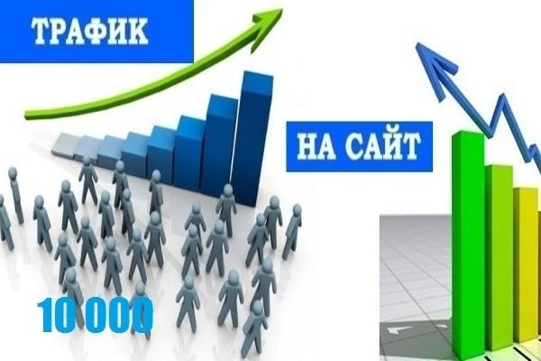 10000 посетителей на ваш сайт 1 - kwork.ru