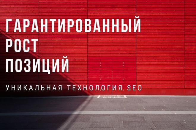 Продвижение в поиске. Уникальная технология. Гарантия роста позиций 1 - kwork.ru