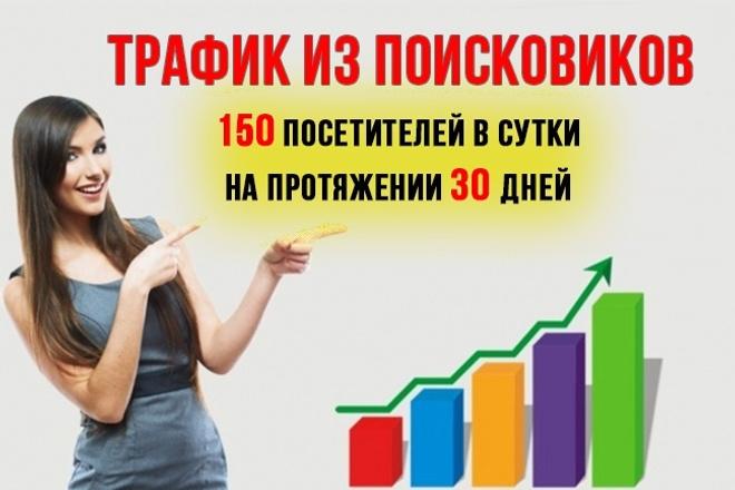 Трафик из поисковых систем на ваш сайт. 150 посещений в день, 30 дней 1 - kwork.ru