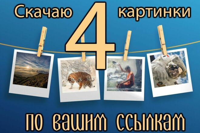 Скачаю любые 4 картинки высокого разрешения по Вашим ссылкам 1 - kwork.ru