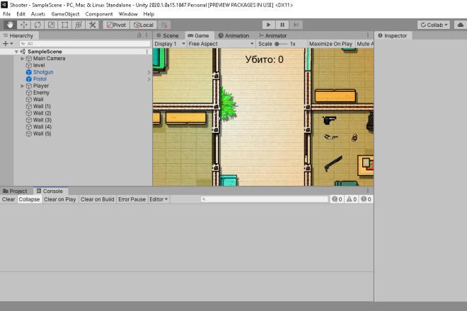 Исходник игрового мобильного ассета Hotline Unity3D 2D Top Down Shooter Source Code 3 - kwork.ru