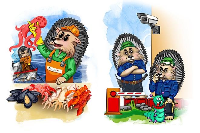 Нарисую персонажа, иллюстрацию в векторе 34 - kwork.ru