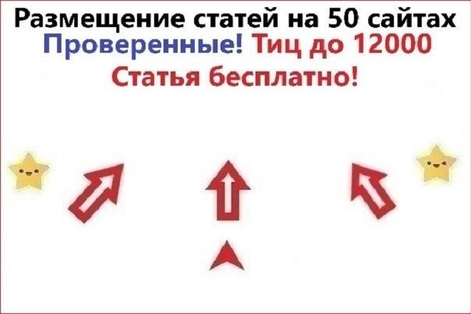 Размещение статей на 50 трастовых сайтах. Естественные ссылки на сайт 1 - kwork.ru
