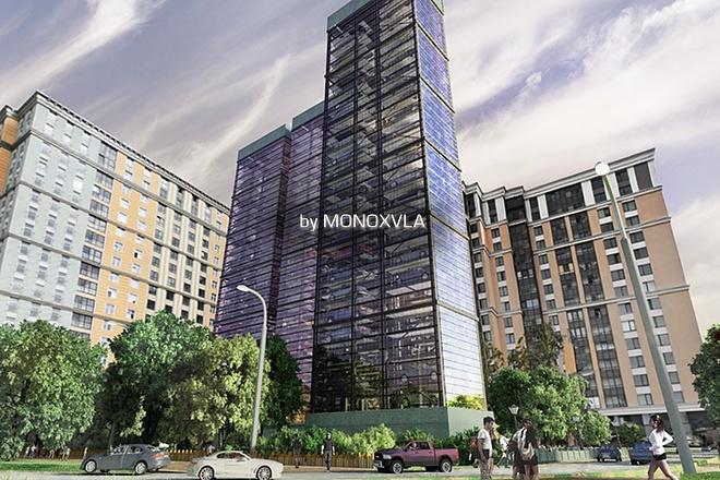 3D визуализация - многоярусный парковочный комплекс, parking 1 - kwork.ru