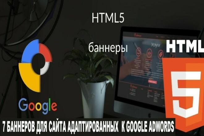 7 баннеров для вашего сайта, адаптированных к рекламе в google 15 - kwork.ru