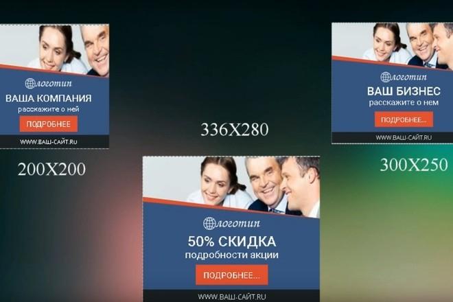 7 баннеров для вашего сайта, адаптированных к рекламе в google 9 - kwork.ru