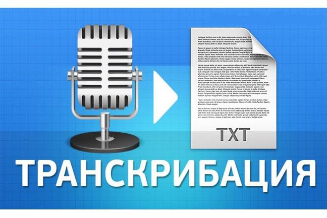Транскрибация,перевод из аудио,видео в текст.С Вас видео, с меня текст 1 - kwork.ru