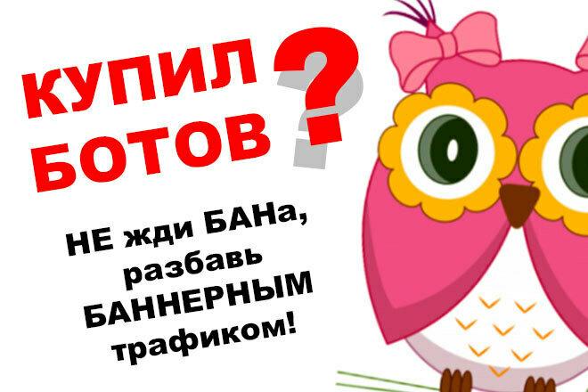 Качественный баннерный трафик от 10 до 50 посетителей в сутки 1 - kwork.ru