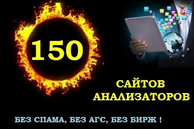 Ручной прогон по 150 сайтам анализаторам. Без спама, без бирж, без АГС 1 - kwork.ru