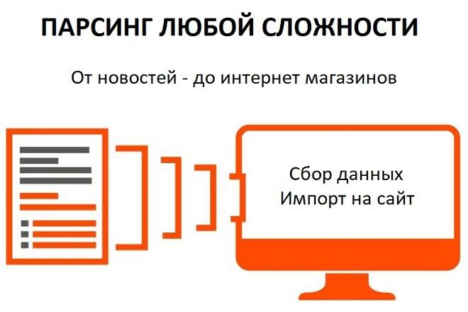 Парсинг интернет-магазинов. Парсинг с сайта товаров и цен. Сбор данных 1 - kwork.ru