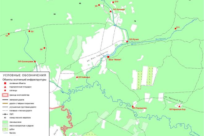 Выполню обзорную схему, план местности для отчёта 2 - kwork.ru