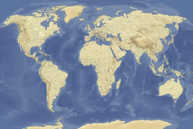 Подготовлю настенную географическую карту 2 - kwork.ru