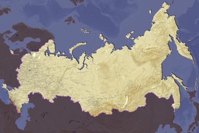 Подготовлю настенную географическую карту 3 - kwork.ru