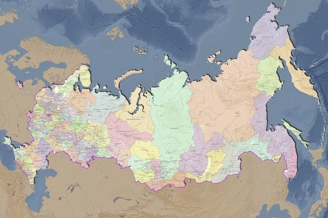 Подготовлю настенную географическую карту 4 - kwork.ru