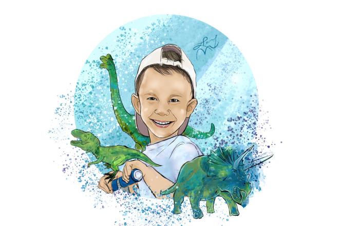 Нарисую детский цифровой портрет фото