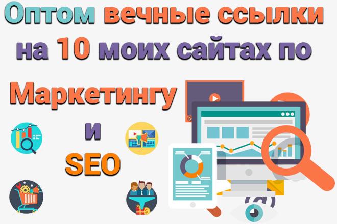 Оптом 10 вечных ссылок на 10 моих сайтах по Маркетингу и SEO 1 - kwork.ru