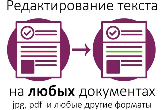 Отредактирую любые документы, картинки, пдф. Исправлю текст на нужный 5 - kwork.ru