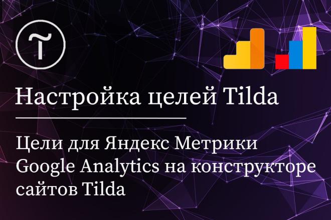Настройка целей в Яндекс Метрике для Tilda 1 - kwork.ru