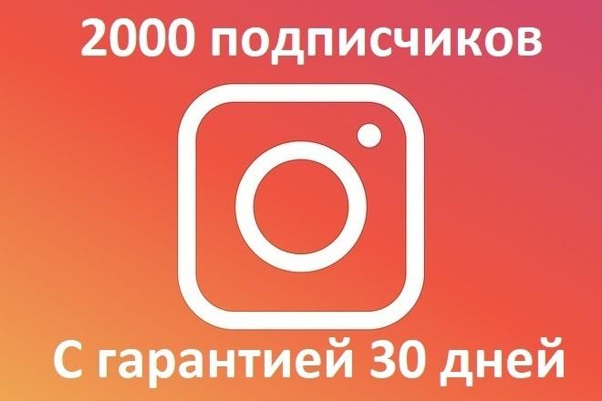 2000 подписчиков с гарантией 30 дней - Частично из России и СНГ 1 - kwork.ru