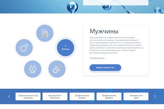 Дизайн сайта PSD 53 - kwork.ru