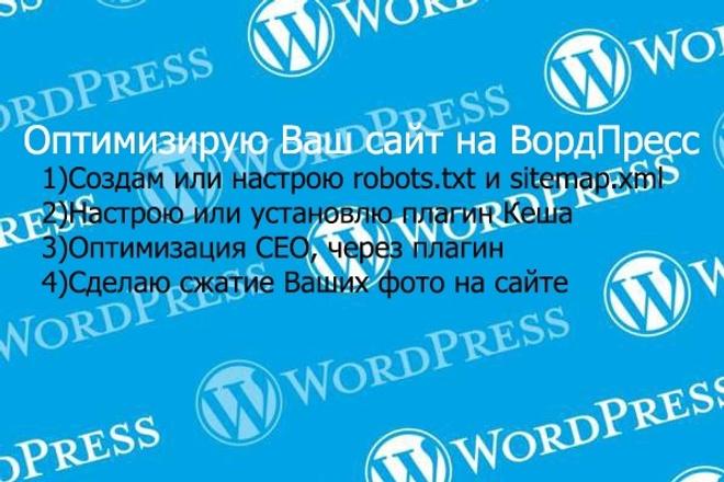 Оптимизирую Ваш сайт на ВордПрессе 1 - kwork.ru
