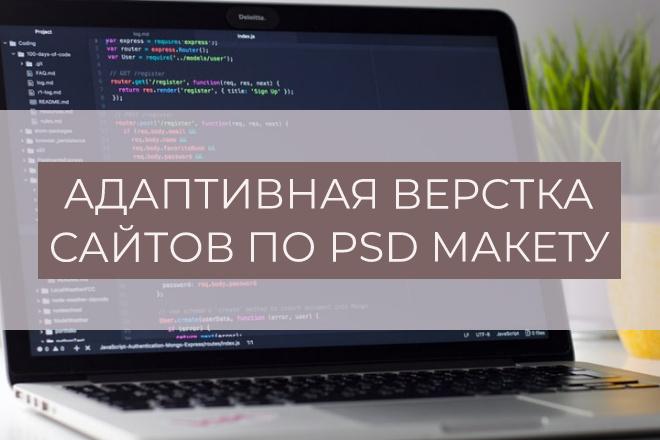 Адаптивная верстка страницы по PSD макету 10 - kwork.ru