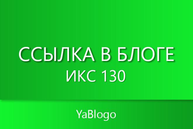 Ссылка в блоге - ИКС 130 1 - kwork.ru