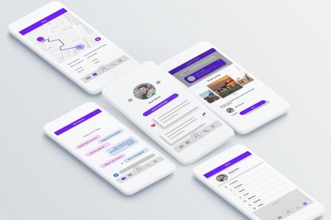 Дизайн двух экранов мобильного приложения 10 - kwork.ru