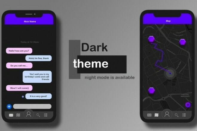Дизайн двух экранов мобильного приложения 8 - kwork.ru