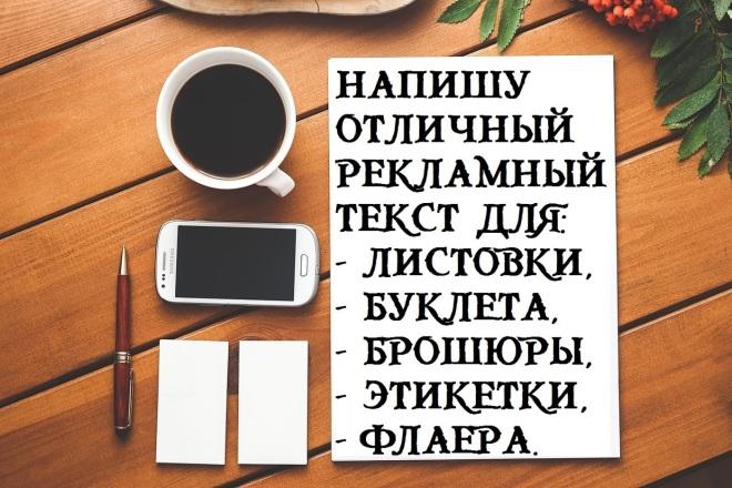Текст для листовки, буклета, брошюры, этикетки, флаера 1 - kwork.ru