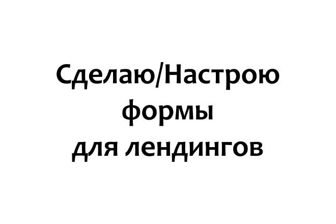 Установлю и настрою форму для лендинга 1 - kwork.ru