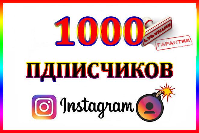 1000 Подписчиков в Instagram 1 - kwork.ru
