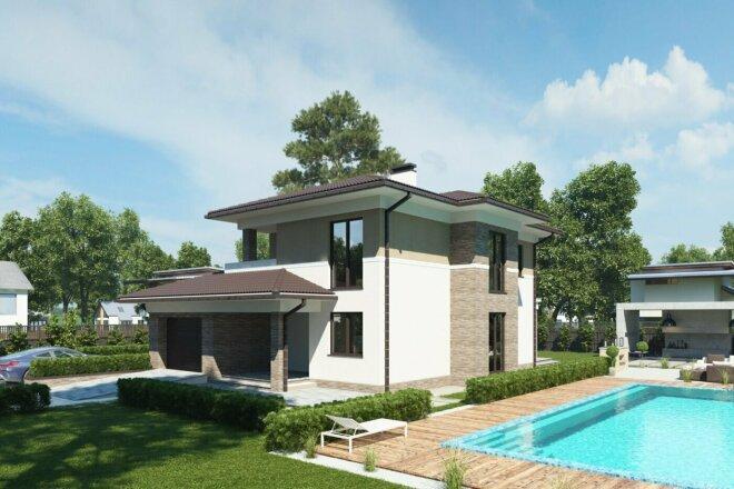 Качественная 3D визуализация фасадов домов 12 - kwork.ru