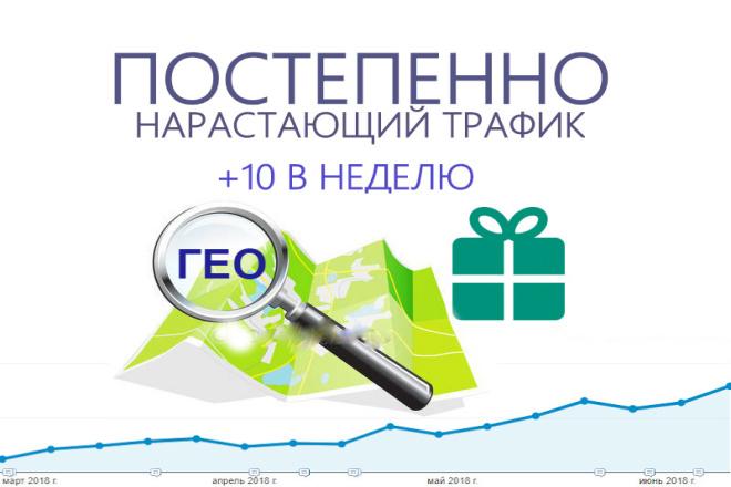 Качественный нарастающий трафик в течение 60 дней. ГЕО бесплатно 1 - kwork.ru
