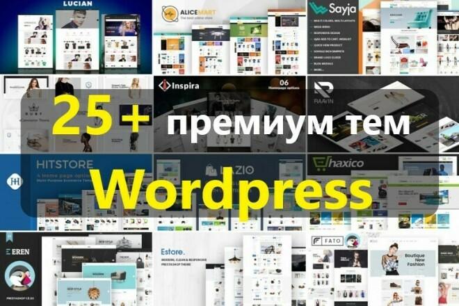25 премиум тем Wordpress, большой ПАК 4 - kwork.ru