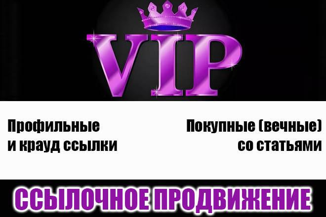 Ссылочное продвижение комплекс VIP услуг 1 - kwork.ru