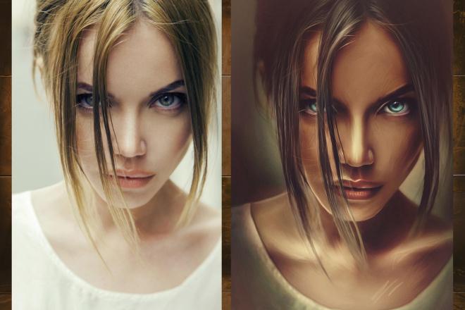 Нарисую портрет по фото в стиле диджитал арт 5 - kwork.ru