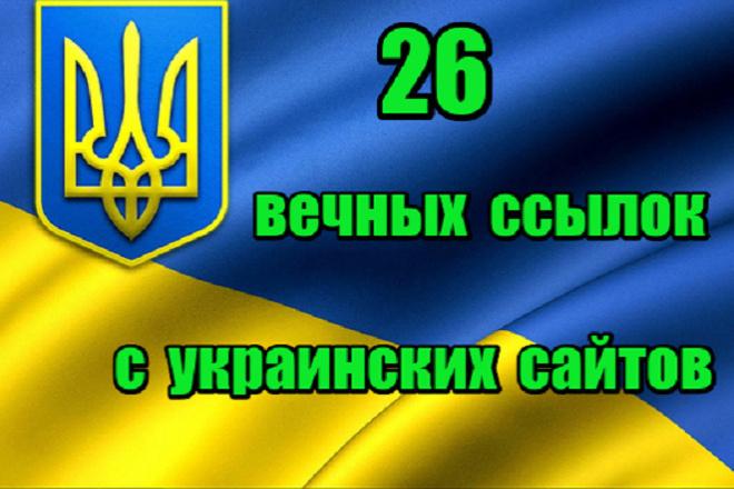 26 вечных ссылок с Украинских сайтов 1 - kwork.ru