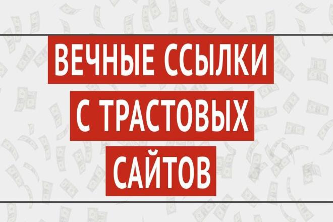 300 вечных трастовых сео ссылок с тИЦ от 10-и + на ваш сайт 1 - kwork.ru