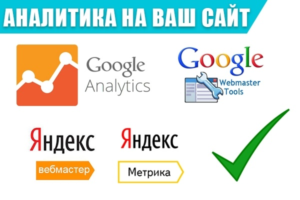 Подключение Яндекс Метрики и Google Analytics. Панели Веб Мастеров 1 - kwork.ru
