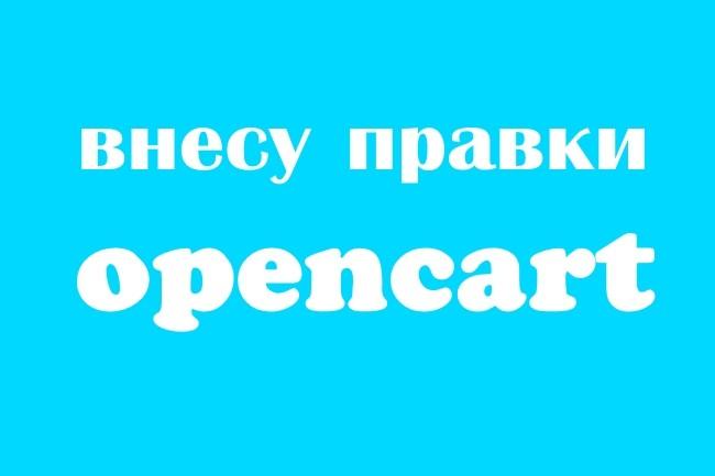 Внесу правки на Opencart 1 - kwork.ru
