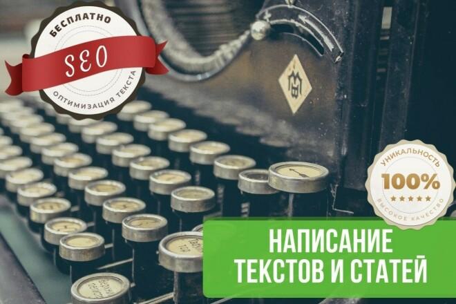 Написание уникальных SEO-текстов проф. копирайтером 1 - kwork.ru