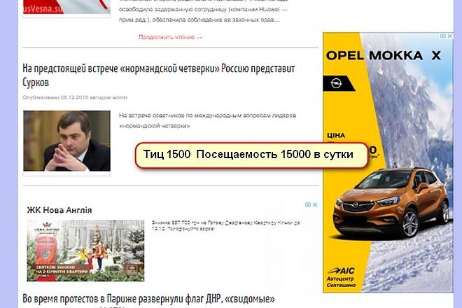 ИКС 1600 Посещений 10000 в сутки. Напишу статью и размещу на сайте 1 - kwork.ru